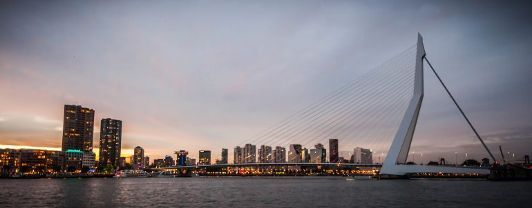 A-panoramic-view-of-Rotterdam-and-its-Erasmus-Bridge